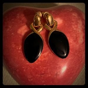 Fashion Gold and Black Earrings